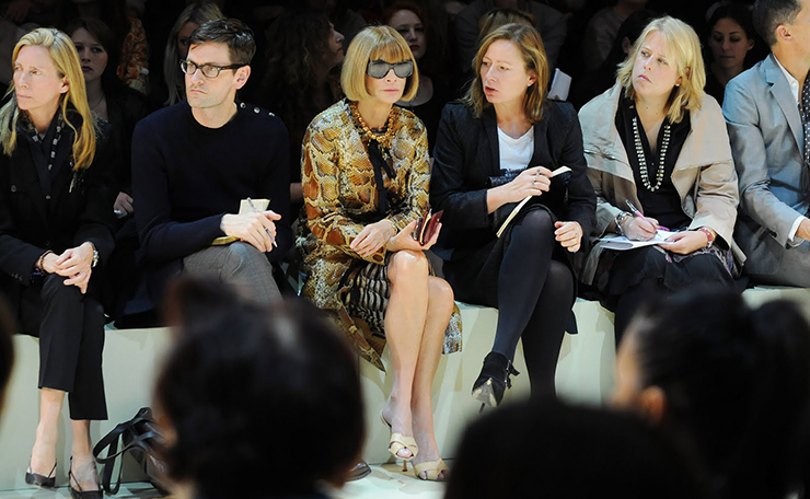 Anna Wintour at a fashion week