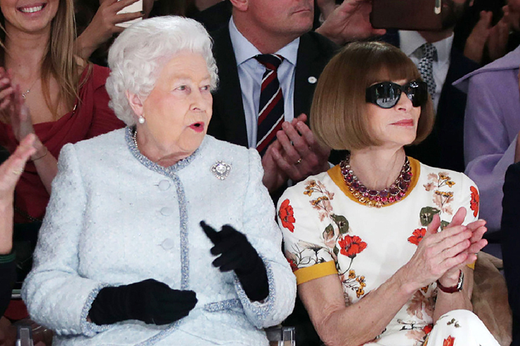 Anna Wintour and Queen Elizabeth II