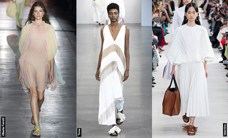 pleating trend