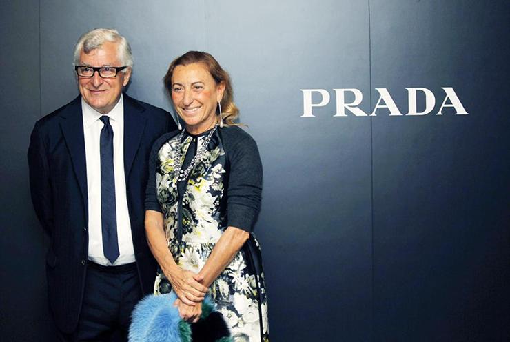 Miuccia Prada & Patrizio Bertelli