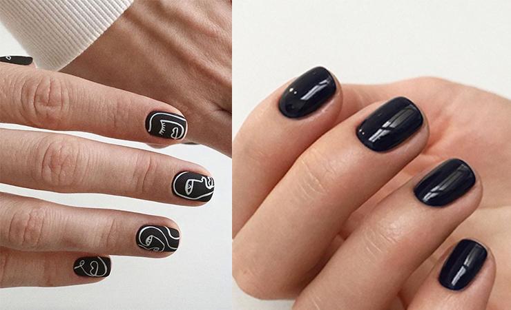 Dark Tones nails