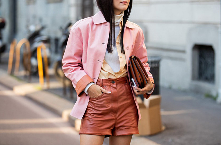leather shorts trend
