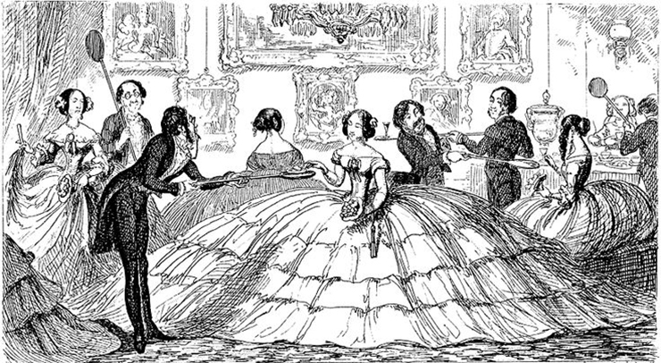 Image result for what does the frame for a hoop skirt look like