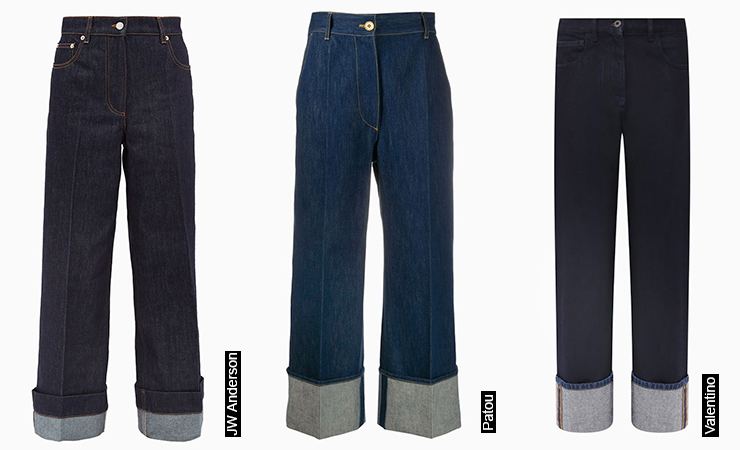 Turn-up Jeans