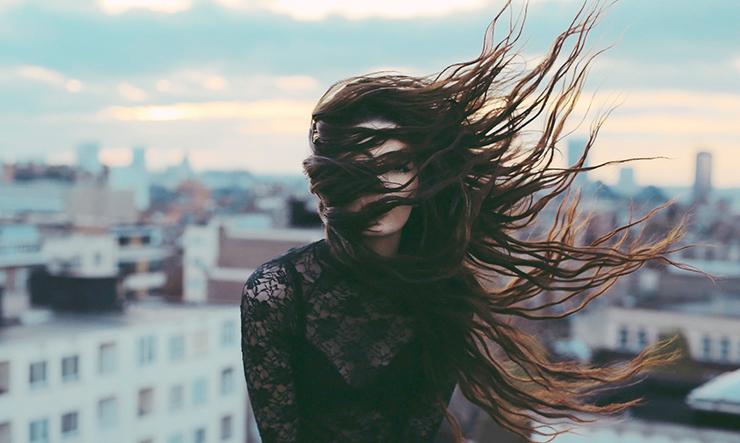 rainy hair