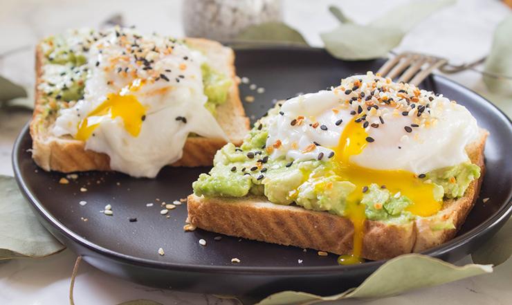 Eggs and avocados